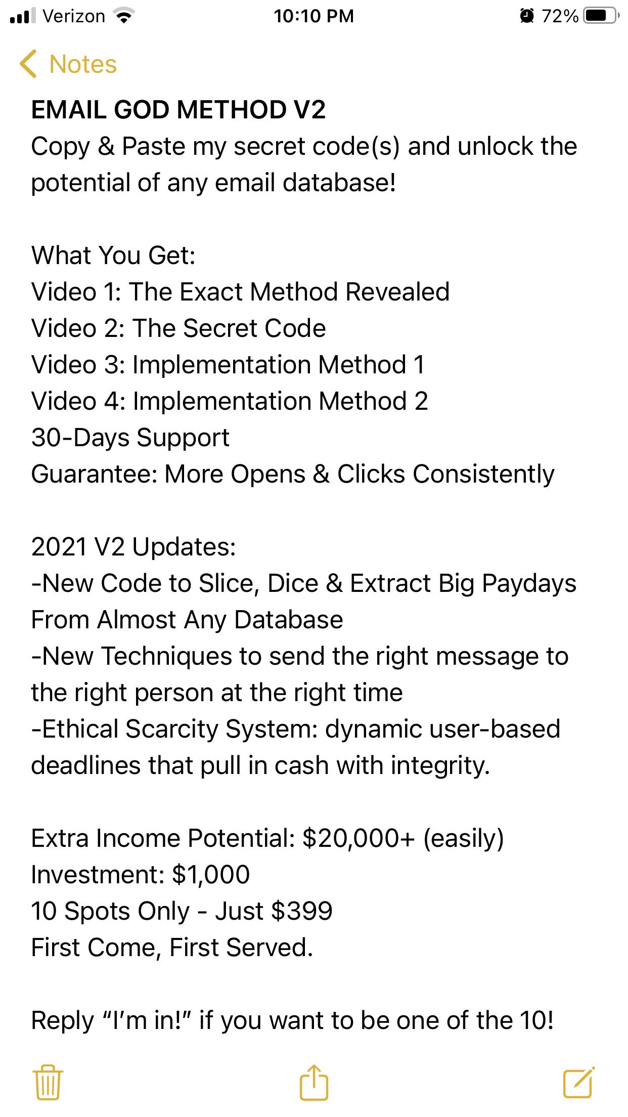 Email God System