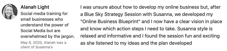 LinkedIn Testimonial