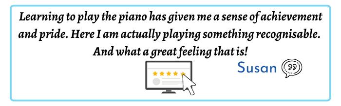 Mark Deeks Piano Startup Academy Testimonial Susan