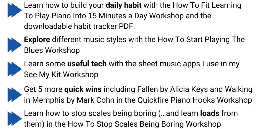 Piano Startup Academy what you get