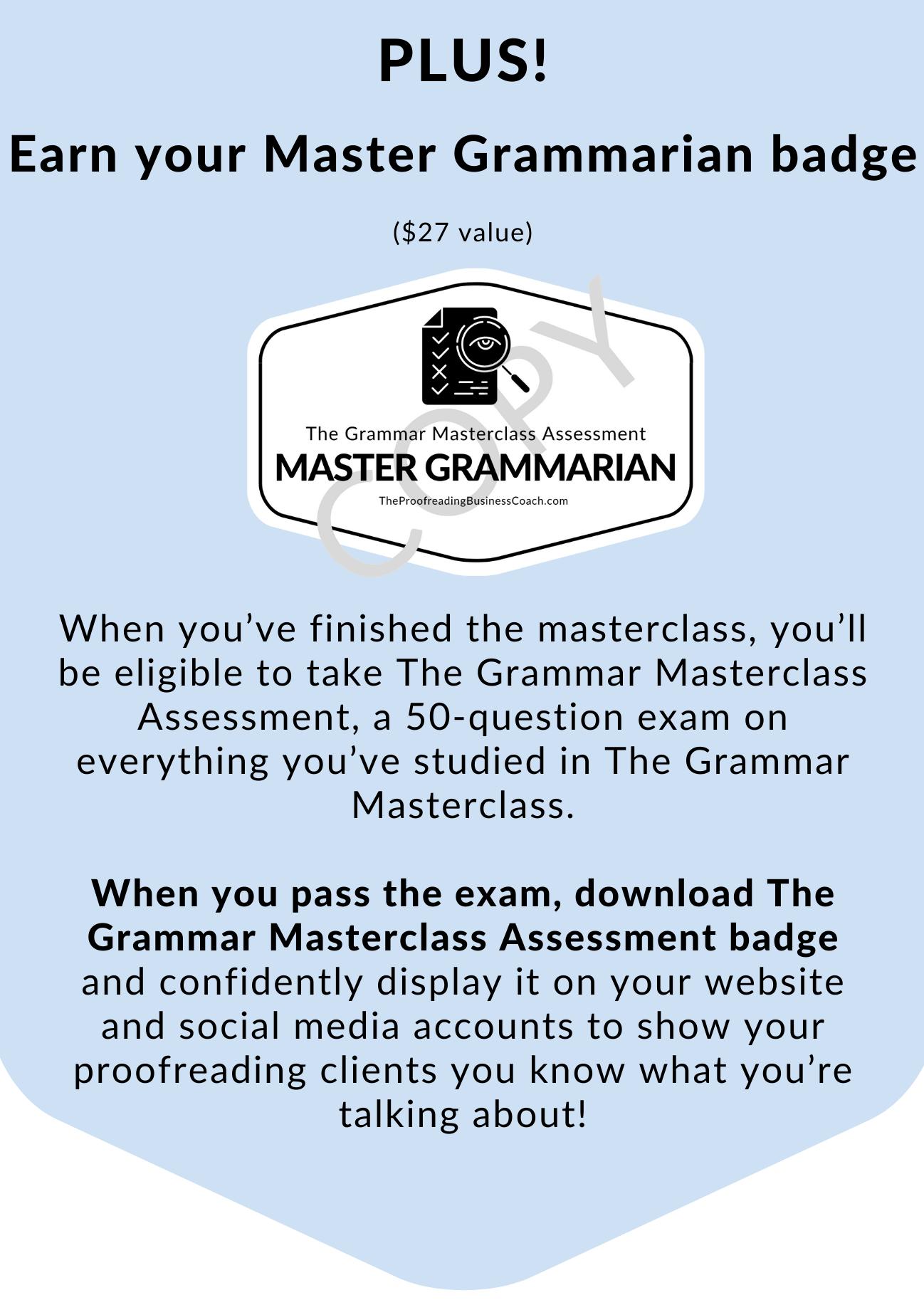 The Grammar Masterclass 4