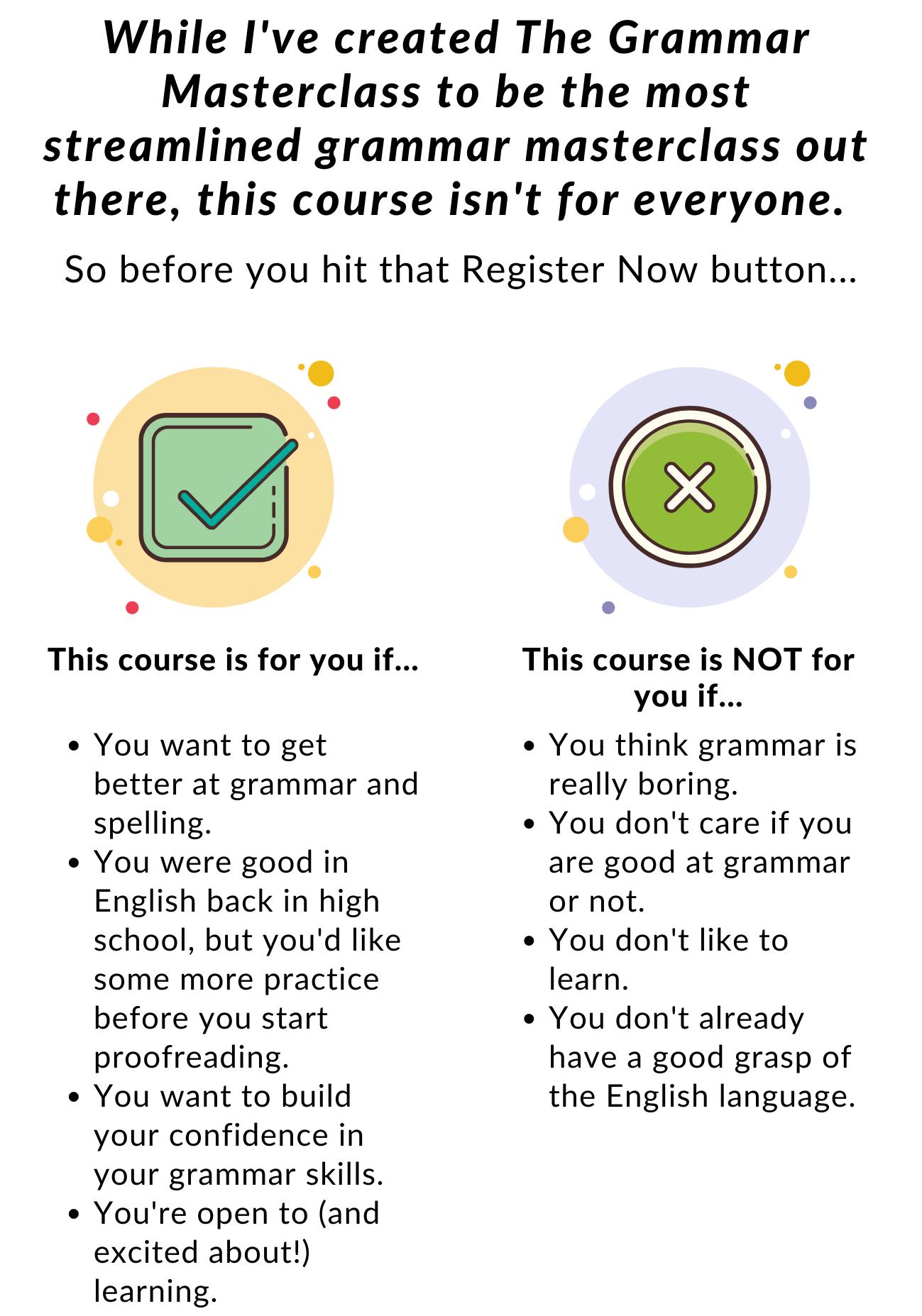 The Grammar Masterclass 7