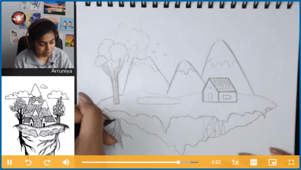 Beginner Drawing Island Lesson