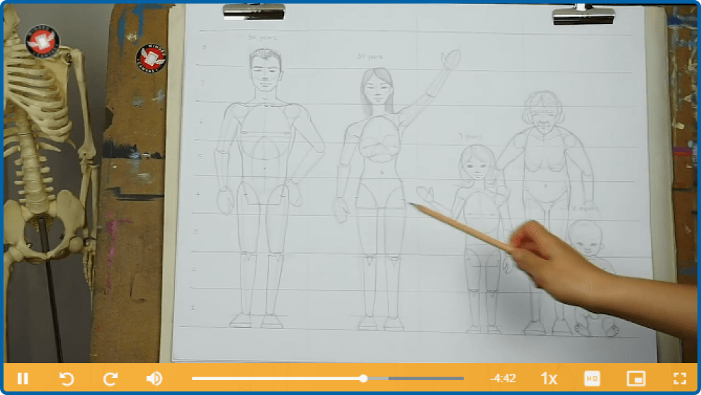 Figure Drawing Proportions Lesson